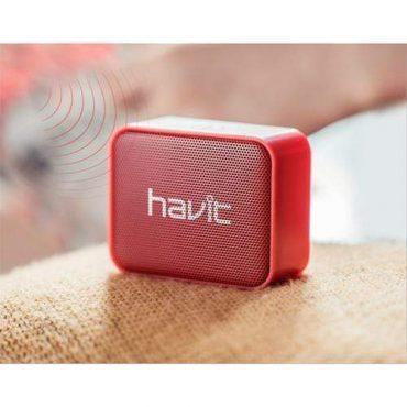 سماعة بلوتوث ميني سبيكر المحمولة من HAVIT - أحمر