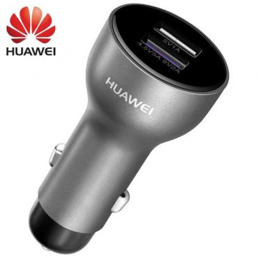 شاحن سيارة مع كابل من Huawei - أسود
