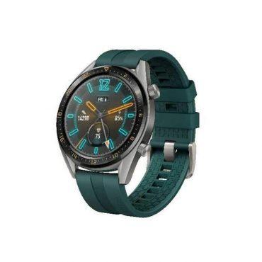 ساعة ذكية GT Huawei – رمادي وحزام أخضر