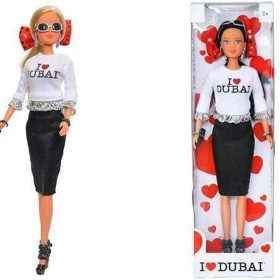 لعبة دمية I LOVE DUBAI مع شنطة SIMBA - I Love Dubai