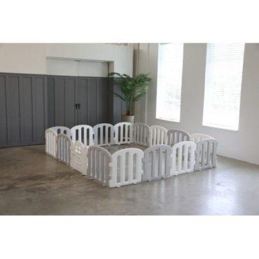 ساحة ألعاب iFam - First Baby Room 200*280 White & Light Grey 14EA