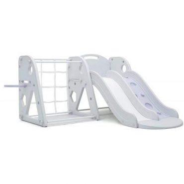 أرجوحة iFam - Climbing Slide + Play Ground + Mat - رمادي  أبيض