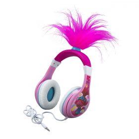 سماعة رأس سلكية للأطفال KIDdesigns - Trolls World Tour Poppy Wired Headphones - زهري