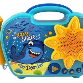 لعبة مكبر صوت Baby Shark  للأطفال مع ميكروفون KIDdesigns - Baby Shark Sing Along Karaoke BoomBox