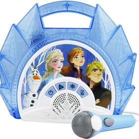 لعبة مكبر صوت Frozen للأطفال مع ميكروفون KIDdesigns - Disney Frozen 2 Sing Along Karaoke BoomBox