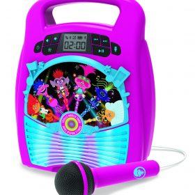 لعبة مكبر صوت بلوتوث مع ميكروفون للأطفال KIDdesigns - Trolls World Tour Bluetooth MP3