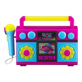 لعبة مكبر صوت للأطفال مع ميكروفون KIDdesigns - Trolls World Tour Sing Along Karaoke Boombox for Kids