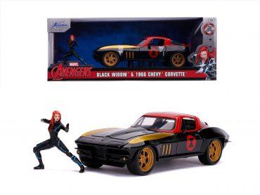 لعبة سيارة Jada - Marvel Black Widow 1966 Chevy 1:24