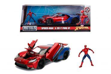 لعبة سيارة Jada - Marvel Spiderman 2017 Ford GT 1:24