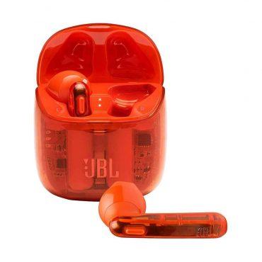 سماعات رأس لاسلكية JBL T225 True Wireless Earbud Headphones - Ghost Orange