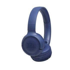 سماعات رأس لاسلكية مع ميكروفون t500 من jbl - أزرق