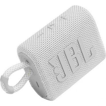 سبيكر لاسلكي  JBL GO 3 Portable Waterproof Wireless Speaker - White