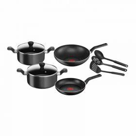 طقم أواني طهى Tefal Super Cook Cooking Pots And Pans Set -9 قطع