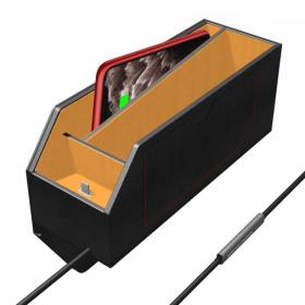 صندوق تخزين وشحن للسيارة 3 في 1 Qi Car Wireless Charger Fast Charging Storage Box For iPhone For AirPods
