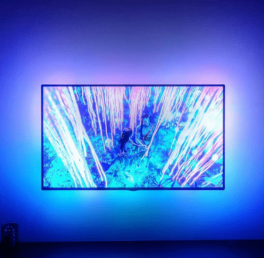 شريط إضاءة تفاعلي مع لون الشاشة