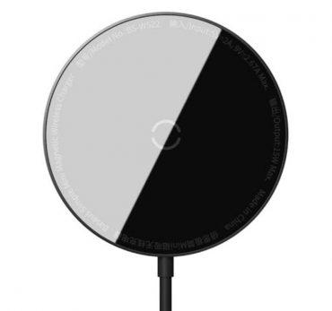 شاحن لاسلكي مغناطيسي Baseus Simple Mini Magnetic Wireless Charger أسود