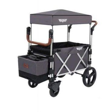 عربة أطفال قابلة للطي Keenz 7S Premium Deluxe Foldable Wagon-Stroller - رمادي