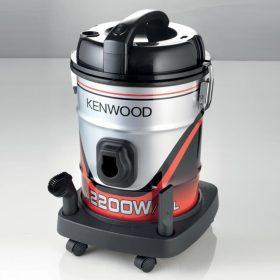 مكنسة كهربائية kenwood ، اسطوانية 2200 واط ، 25 لتر ، 8 متر طول الكابل ، فلتر قابل للفك والغسيل ، اللون أسود / أحمر -  - VDM60.000BR