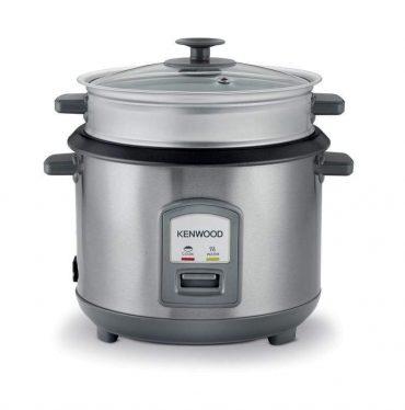 طباخ طهي أرز بالبخار من kenwood ، 1000 واط ن سعة كبيرة 16 كوب أرز ، لون ستيل غير قابل للصدأ- RCM71.000SS