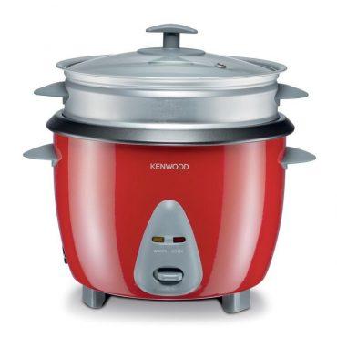 طباخ طهي أرز بالبخار من kenwood ، 650 واط ن سعة كبيرة 12 كوب أرز ، لون احمر ، سعة الوعاء 1