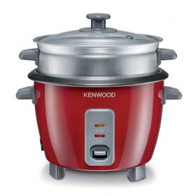 طباخ طهي أرز من kenwood ، 350 واط ،سعة 3 أكواب رز ، لون احمر ، سعة الوعاء 0