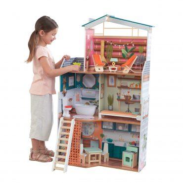 لعبة بيت الدمى KidKraft - Marlow Dollhouse with EZ Kraft™ Assembly