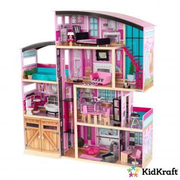 لعبة بيت الدمى KidKraft - Shimmer Mansion - زهري