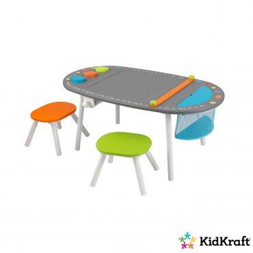 طاولة رسم مع مقعدين KidKraft - Chalkboard Art Table with Stools
