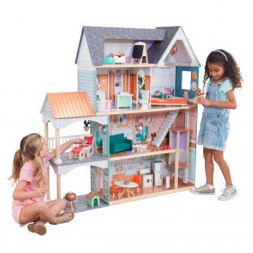 لعبة بيت الدمى KidKraft - Dahlia Mansion Dollhouse with EZ Kraft Assembly™