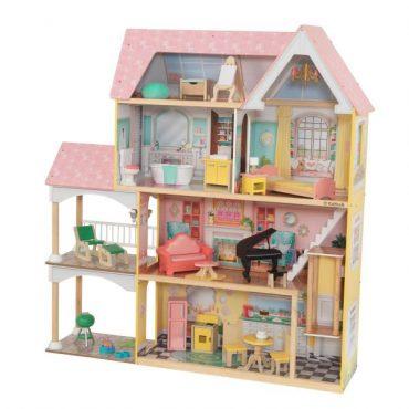 لعبة بيت الدمى KidKraft - Lola Mansion Dollhouse - زهري