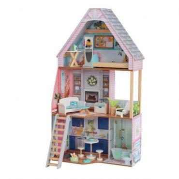 لعبة بيت الدمى KidKraft - Matilda Dollhouse with EZ Kraft™ Assembly - زهري