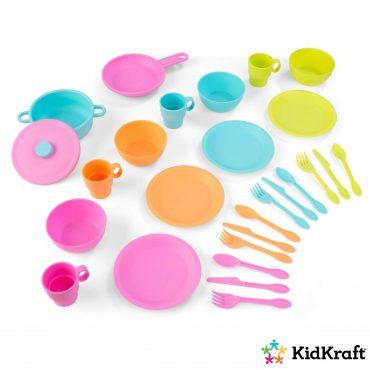 مجموعة إكسسوارات المطبخ KidKraft - 27-Piece Bright Cookware Set