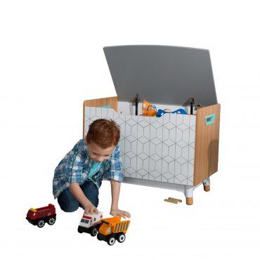 صندوق تخزين ألعابKidKraft - Mid-Century Kid™ Toy Box - رمادي