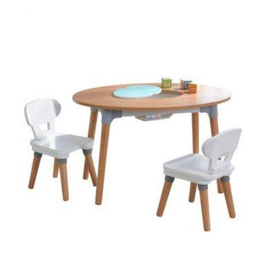 طاولة وكرسيان للأطفال KidKraft - Mid-Century Kid™ Toddler Table & 2 Chair Set - رمادي