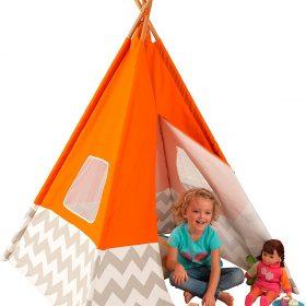 لعبة خيمة الأطفالKidKraft - Deluxe Play Teepee  - برتقالي
