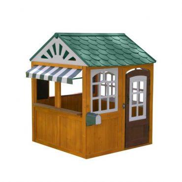 بيت الألعاب الخشبي KidKraft - Garden View Playhouse - بني