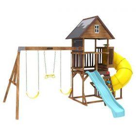 برج الألعاب للأطفال KidKraft - Ryan's World Twisty Tower Playset - بني
