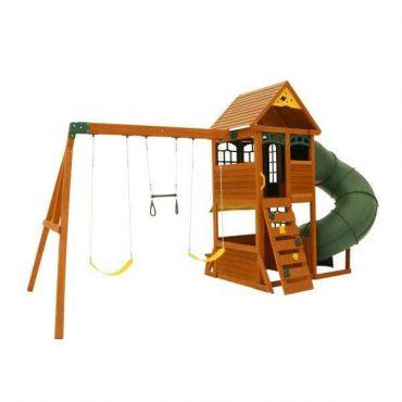مجموعة ألعاب للأطفال KidKraft - Forest Ridge Swing Set / Playset