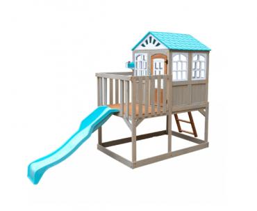 مجموعة بيت الألعاب للأطفال KidKraft - Highline Retreat Wooden Playset