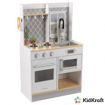مطبخ للأطفال KidKraft - Let's Cook Wooden Play Kitchen - أبيض