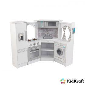 زاوية المطبخ للأطفال KidKraft - Ultimate Corner Play Kitchen with Lights & Sounds - أبيض
