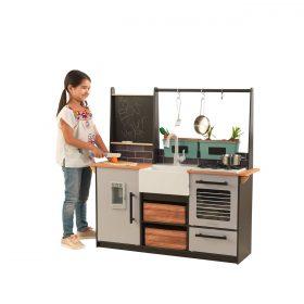 مطبخ للأطفال KidKraft - Farm To Table Kitchen - رمادي