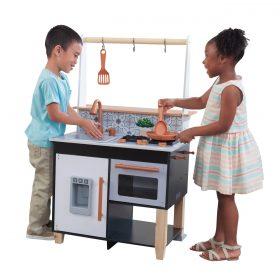 مطبخ للأطفال KidKraft - Artisan Island Toddler Play Kitchen - أسود