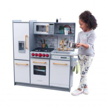 مطبخ للأطفال KidKraft - Uptown Elite White Play Kitchen with EZ Kraft Assembly - أبيض