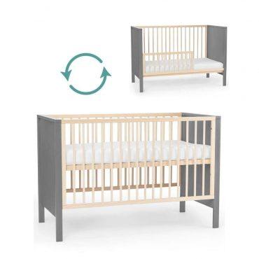 Kinderkraft Baby سرير أطفال خشبي grey