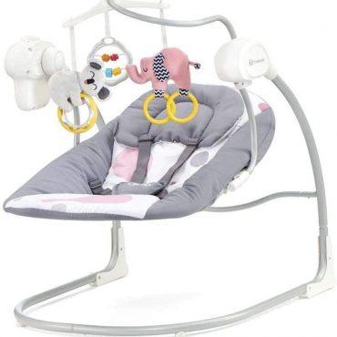 Kinderkraft baby كرسي الألعاب للرضع  rocker  MINKY pink