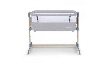 Kinderkraft سرير أطفال Baby cot Neste Air grey - wood