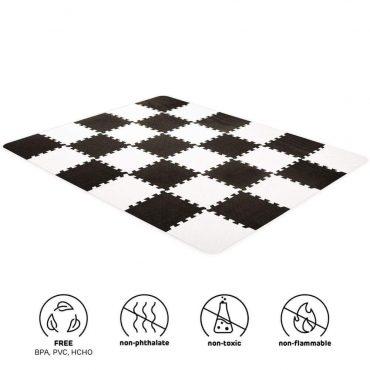 Kinderkraft لعبة المربعات الإسفنجية LUNO black