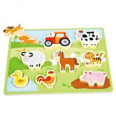 لعبة لغز المزرعة Lelin - Chunky Farm Puzzle