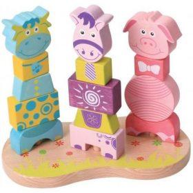 لعبة تركيب الحيوانات Lelin - Farm Animal Blocks